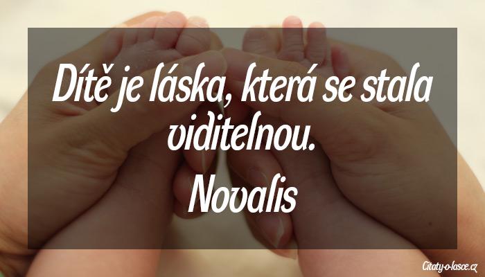 O mateřské lásce k dítěti citát