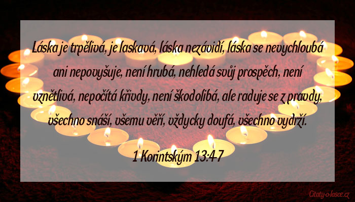 Citát z bible na téma láska
